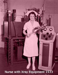 1933: Nurse with Xray equipment