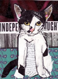 Independent Thought collage by Kathryn DeMarco