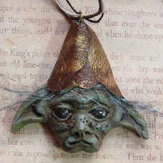 Goblin Fairy Fae Fey Necklace polymer clay par ElvenElysium sur Etsy