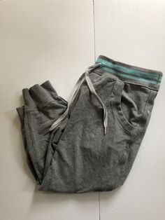 Lululemon flashback crops in grey and angel blue size 8 French Terry, Lululemon, Angel, Comfy, Grey, Blue, Ash, Gray, Angels