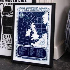 Screen Print - British Isles Sea Regions