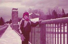 My son Kevin Page years ago on the US 9 Bridge crossing Ausable Chasm - we lived in the old stone house on the hill behind the entrance sign
