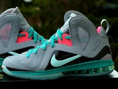 3e702cea3c61f Nike Lebron 9 south beach size 12  fashion  clothing  shoes  accessories