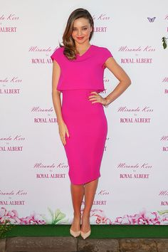 Model Miranda Kerr poses during a public appearance to discuss her Royal Albert teaware range on May 16, 2014 in Sydney, Australia.