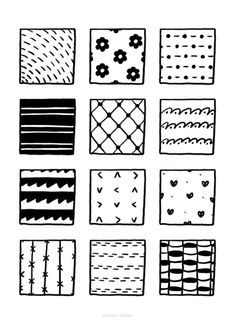 100+ Fun, Easy Patterns to Draw Zen Doodle, Doodle Art, Easy Patterns To Draw, Mini Drawings, Art Drawings, Doodle Pages, 100 Fun, Basic Shapes, Pattern Drawing