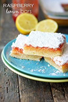 Raspberry Lemon Bars - Creme de la Crumb