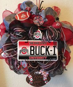 A personal favorite from my Etsy shop https://www.etsy.com/listing/277458542/ohio-state-university-ohio-state-wreath