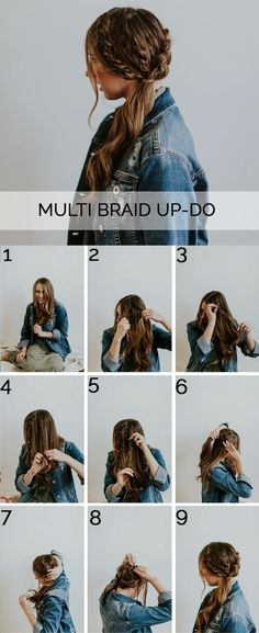 A quick and simple beautiful multi-braided up do hairstyle! The simplest tutorial and so beautiful!