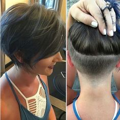 45 Latest Trendy Short Haircuts 2019 The Effective Pictures We Offer You About undercut bob haircut Short Hair Undercut, Short Hair Cuts, Pixie Cuts, Short Hairstyles For Women, Bob Hairstyles, Pixie Haircuts, Layered Hairstyles, Shaved Hairstyles, Short Hair Trends