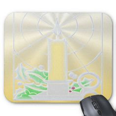 Opalescent Yellow Christmas Candle Mouse Pads. http://www.zazzle.com/opalescent_yellow_christmas_candle-144694726493154463?rf=238575087705003771