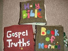 lots of lds quiet book ideas  This would be perfect for church!