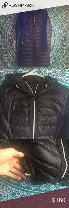 Lululemon long puffer coat Perfect time of the year to update to this slimming, light puffer coat! lululemon athletica Jackets & Coats Puffers