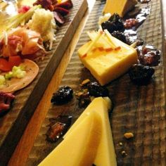 Assorted Austrian Cheese selection with homemade jams @BierBeisl