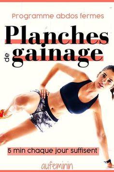 La planche de gainage : il existe au moins 10 manières de se sculpter les abdominaux profonds. A raison de 5 min par jour, c'est facile de se muscler chez soi ! /// #gainage #planche #exercice #abdos #abdominaux #muscler #musculation #musclesprofonds #aufeminin