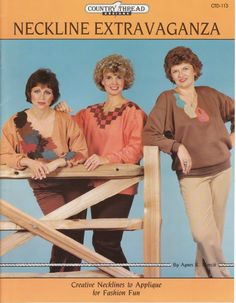Those are such nice sweaters! Especially the necklines. You might say it is an extravaganza!