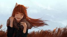 Holo by noccu on DeviantArt Fun Facts About Wolves, Wolf Background, Wolf Deviantart, Galaxy Wolf, Wolf Warriors, Simple Anime, Wolf Images, Wolf Children, Spice And Wolf