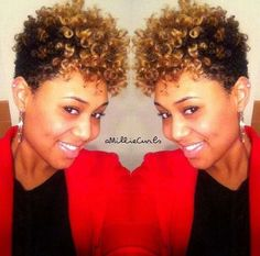CUTE CURLY FRO NATURAL HAIR STYLE This is the easiest cute natural hair styles for women with short black natural hair. Description from pinterest.com. I searched for this on bing.com/images