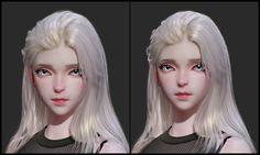 female by Se young Lee on ArtStation. 3d Model Character, Character Modeling, Character Art, Character Design, Bathroom Decor Pictures, Zbrush Tutorial, Modeling Tips, 3d Face, Epic Art