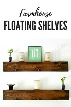 Farmhouse style floating shelves #affiliate #farmhouse #shelves