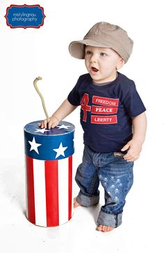 Red White and Blue 4th of July Independence Day Boys Tee Shirt. $22.00, via Etsy.