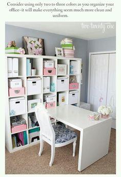Home Office Organization, IKEA Storage Bookshelf, Modern