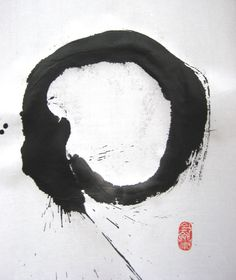 While surfing the web tonight I came across a magnificently simple Zen image that transfixed my mind. Of course I've seen ensō before (Zen circles)–kind of hard to miss since I live in… Martial, Meditation, Japanese Calligraphy, Japanese Aesthetic, Zen Art, True Nature, Archetypes, Chinese Art, Asian Art
