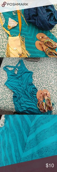 The North Face chevron dress The North Face turquoise chevron dress has hidden side pockets size medium The North Face Dresses Midi