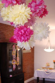 Tissue paper flowers!  Easy to make!