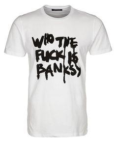 BANKSY - T-shirts print - hvid