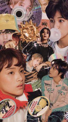 Nct Group, Nct Dream Jaemin, Kpop Posters, Pretty Wallpapers, K Idols, Poster Wall, Nct 127, Vintage Art, Fan Art