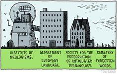 Tom Gauld, Language