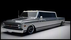 Vintage Trucks Want to ride in style? Limo Chevy coming soon by Rtech Fabrications. Lowered Trucks, Dually Trucks, Hot Rod Trucks, Pickup Trucks, 67 72 Chevy Truck, Classic Chevy Trucks, Classic Cars, Automobile, Chevy Pickups