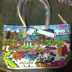 RARE AULANI Disney dooney and Bourke  Hawaii tote Suuuuper hard to find purse because it can only be bought from aulani in Hawaii!! New with tags and plastic is still on the handles protecting them!  Gorgeous bright colors, I just prefer much smaller bags and while I adore how gorgeous this is I just don't think I'm a big bag person. I'm more of a small wristlet kind of girl :) bag looks 10times more gorgeous in person and the colors seem to be even more vibrant in real life!! Dooney…