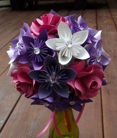 Paper Flower Bouquet Wedding Bouquet via Etsy