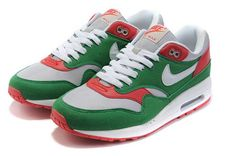 Nike Air Max 1 Womens Green Red Cheap(USD 78.88)-Sale Cheap Air Max 2017 ,air Max 2016 All Grey At Low Price Nike Air Max Factory Store!