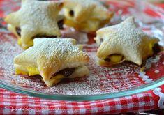 Stelline di sfoglia con nutella e crema ricetta facile