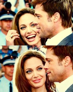 A now well known Hollywood couple; Actor Brad Pitt, and Actress Angelina Jolie. Brad Pitt And Angelina Jolie, Jolie Pitt, Angelina Joile, Love Is In The Air, Looking For Love, Beautiful Couple, Most Beautiful Pictures, Perfect Couple, Actors