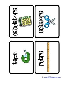 CLASSROOM ORGANIZATION LABELS School Supplies - Clutter-Free Classroom - TeachersPayTeache...