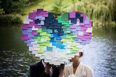 DIY: How to make a post-it heart pinata | Brooklyn Bride - Modern Wedding Blog