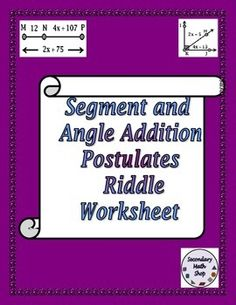 math worksheet : 1000 images about angle  segment addition properties on pinterest  : Segment Addition Postulate Worksheet