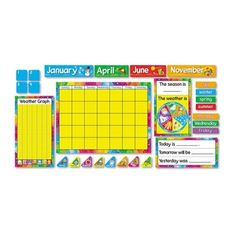 Trend Enterprises Year Around Calendar Board Set,Pre-Kindergarten to 3rd Grade (TEIT8096) - 00078628080964 - Product Reviews and Prices - Shopping.com