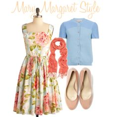 """""""get the look - mary margaret style"""" by onceuponanovel on Polyvore"""