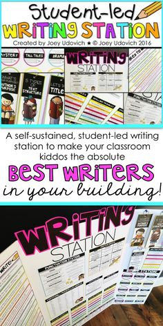 Foster your students' love for writing with this student-led writing center! Free up your time for small group instruction and planning, while they discover just how simple writing can be! This was created so that any question they may have during concerning the writing process, grammar, spelling, text structure, and so much MORE... can be answered by what is being displayed before them! Paid