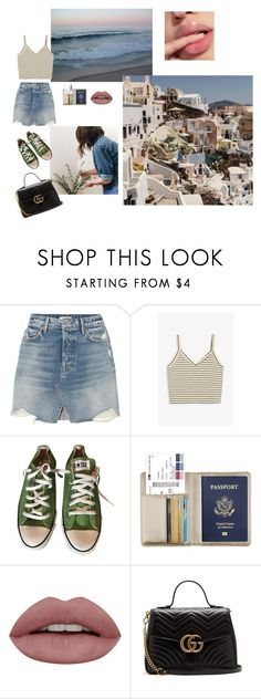 """""""Good bye m'y love good bye my friends"""" by vintageandrea4 ❤ liked on Polyvore featuring GRLFRND, Monki, Converse and Gucci"""