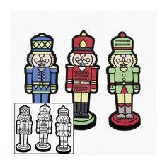 Color Your Own Nutcracker Fuzzy Magnets - Crafts for Kids & Magnet Crafts