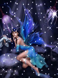 倫☜♥☞倫 Angel or fairy animated CLICK ON THE PICTURE AN WATCH IT COME TO LIFE, MOVING LIGHT ...♡♥♡♥Love it!