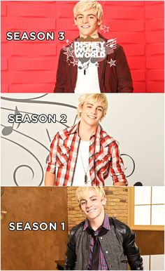 Ross Lynch through out the seasons of Austin & Ally wow he has grown up!!!! I am crying