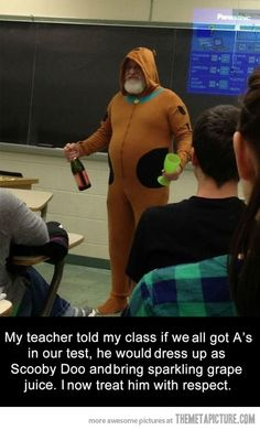 Good guy teacher keeps his promise…
