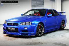 nissan skyline gtr v-spec blue - Bing images Nissan Gtr R34, Gtr Nismo, Classic Japanese Cars, Japanese Sports Cars, Honda S2000, Honda Civic, Nissan Gtr Wallpapers, Street Racing Cars, Auto Racing