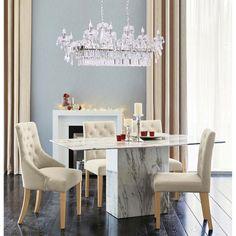 Lustra MW-Light Crystal 367016118 #homedecor #interiordesign #inspiration Dining Chairs, Dining Table, Interior Design, Crystals, Modern, Inspiration, Furniture, Home Decor, Nest Design